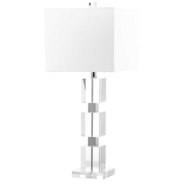Safavieh Ice Palace 28 in. Clear Crystal Cube Lamp - Home Depot