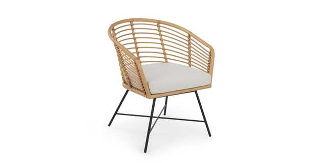 Tula Lily White Lounge Chair - Article