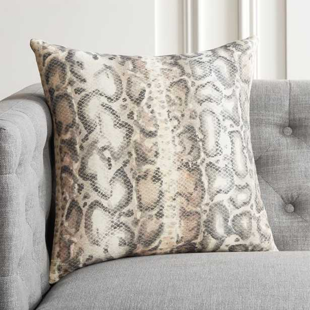 """18"""" Viper Snakeskin Pillow with Feather-Down Insert - CB2"""