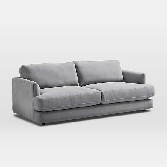 """Haven 84"""" Sofa, Poly, Performance Washed Canvas, Storm Gray, Concealed Supports - West Elm"""