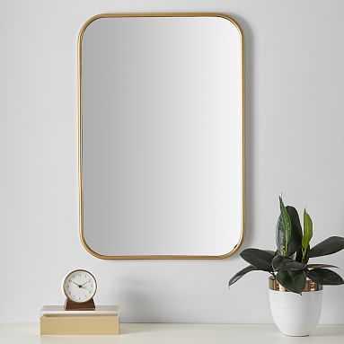 "Metal Framed Mirror, Brass, 20""x30"" - Pottery Barn Teen"