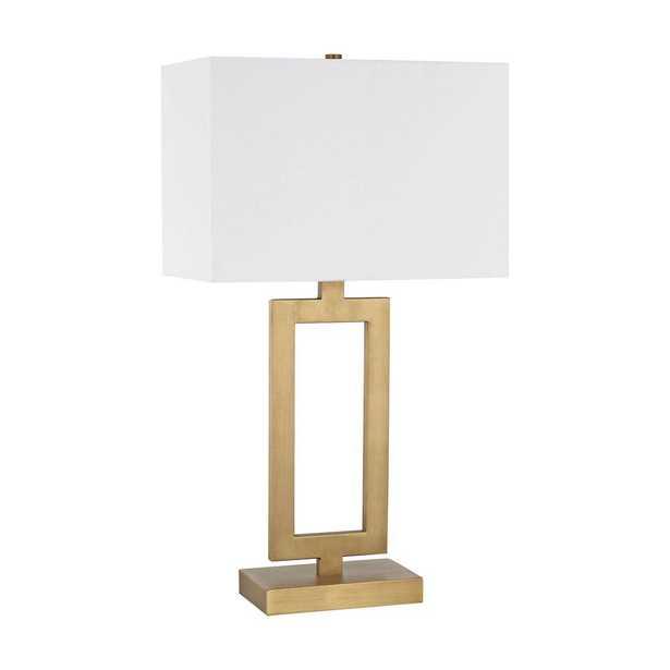 Titan Lighting Dromos 26 in. Antique Brass Table Lamp - Home Depot