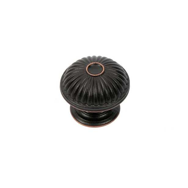 Vintage 1-1/2 in. Oil-Rubbed Bronze Round Cabinet Knob - Home Depot
