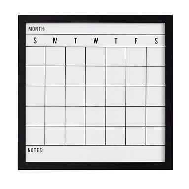 No Nails Study Wall Boards, Calendar, Black - Pottery Barn Teen