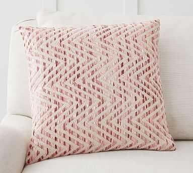 "Ayden Textured Pillow Cover, 18 x 18"", Blush - Pottery Barn"