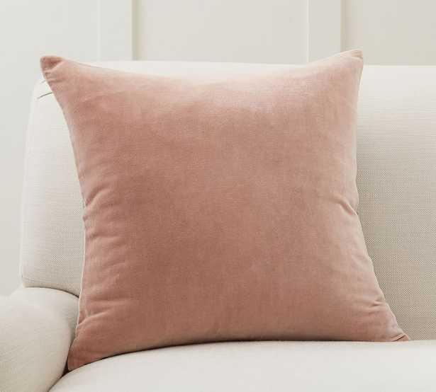 """Velvet Linen Pillow Cover, 20 x 20"""", Pink Sand - Pottery Barn"""