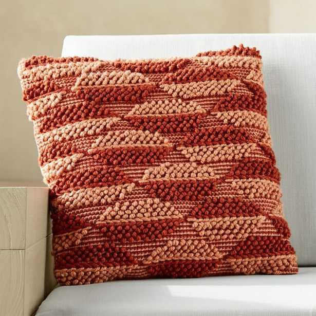 "20""x20"" Ponta Outdoor Clay Textured Pillow - CB2"