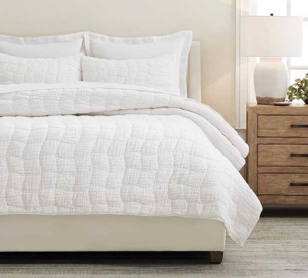 White Cloud Hancrafted Linen/Cotton Quilt, King/Cal. King - Pottery Barn