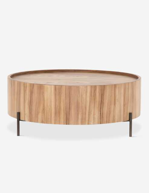 Nausica Drum Coffee Table, Reclaimed Oak - Lulu and Georgia