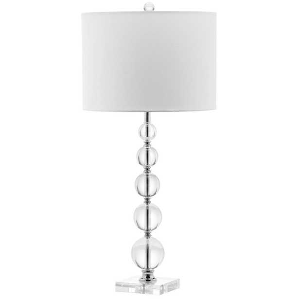 Safavieh Liam 29 in. Clear Table Lamp - Home Depot