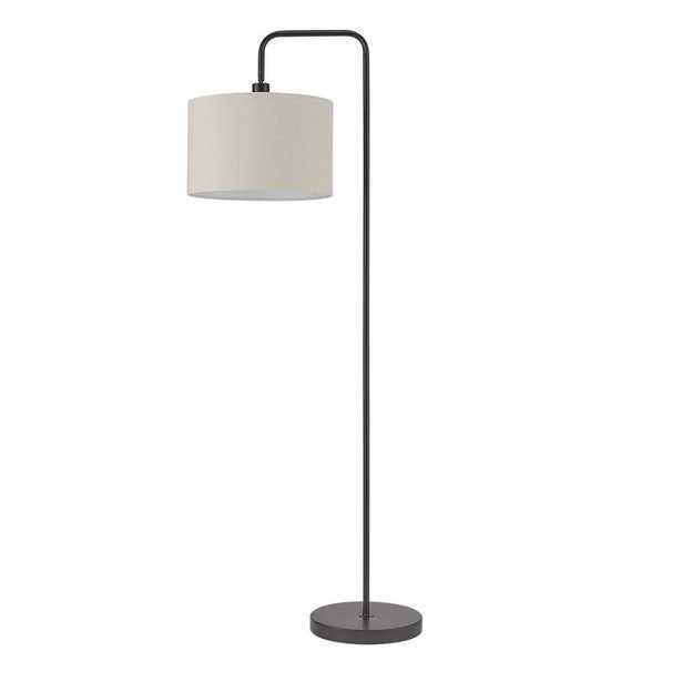 Globe Electric Barden 58 in. Dark Bronze Floor Lamp with Beige Fabric Shade - Home Depot