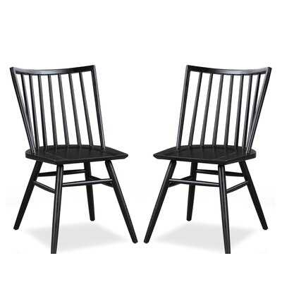 Throggs Solid Wood Dining Chair, set of 2 - Wayfair