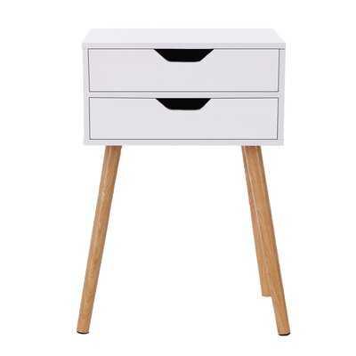 Ilmars 2 - Drawer Nightstand in White - Wayfair