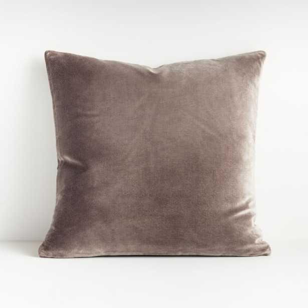 "Regis Grey 20"" Velvet Pillow - Crate and Barrel"
