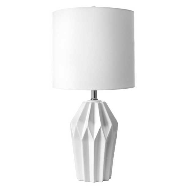 nuLOOM 24 in. White Bryan Ceramic Indoor Table Lamp - Home Depot