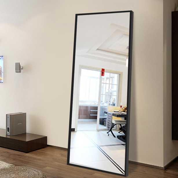 Neu-Type Modern Rectangular Large Floor/Full-Length Mirror With Stand - Home Depot