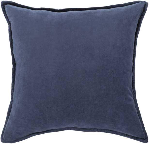 """Cotton Velvet Pillow - 22x22"""" with Poly Insert - Neva Home"""