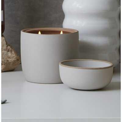 Elemental Ceramic Amber Bergamot Scented Jar Candle - Wayfair