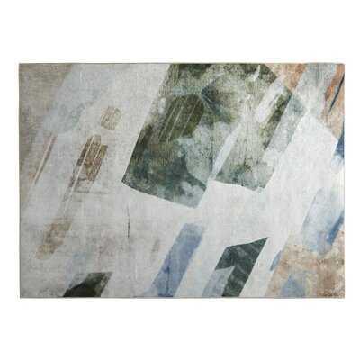 Laxford Abstract Cream/Blue/Beige Area Rug - Wayfair