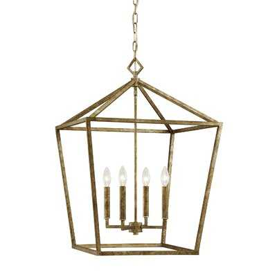 Varnum 4-Light Lantern Pendant - Vintage Gold - Birch Lane