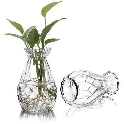 2 Piece Clear Glass Table Vase Set - Wayfair