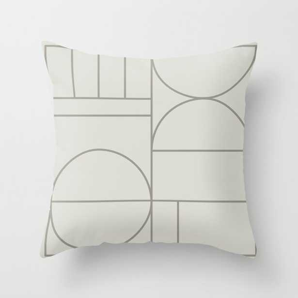 """Deco Geometric 07a Couch Throw Pillow by The Old Art Studio - Cover (20"""" x 20"""") with pillow insert - Outdoor Pillow - Society6"""