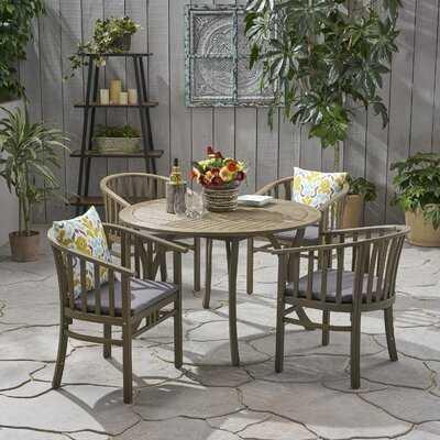 Reichert Outdoor 5 Piece Dining Set with Cushions - Wayfair