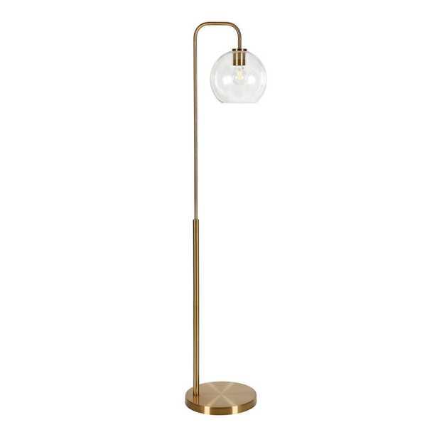 Hudson&Canal Harrison 62-1/2 in. Arc Brass Floor Lamp - Home Depot