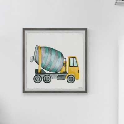 Lugenia Cement Mixer Truck Framed Art - Wayfair