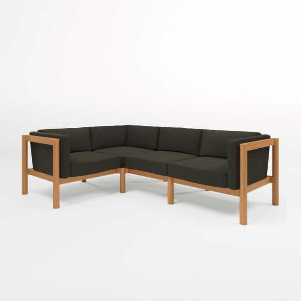 Neighbor Haven 4-Piece Coal Outdoor Sectional - Crate and Barrel