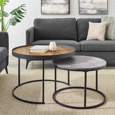 Eddyville Frame 2 Pieces Nesting Coffee Table Set - Wayfair