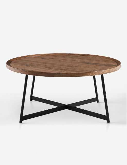 Gweneth Round Coffee Table, Walnut - Lulu and Georgia