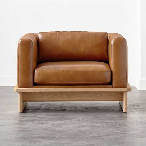 Tablon Saddle Leather Chair - CB2