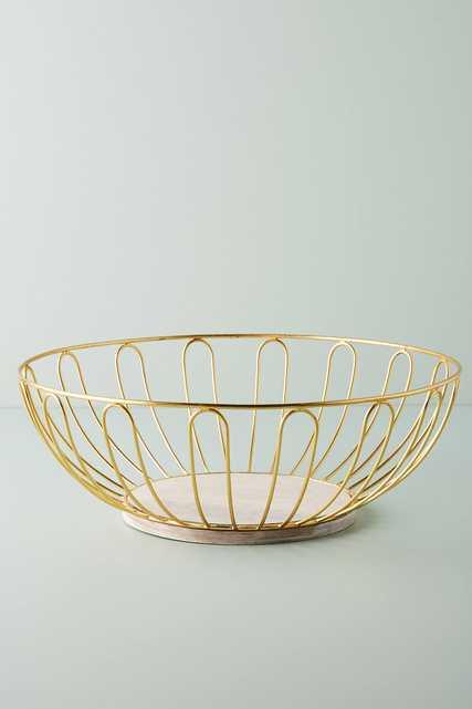 Gold Wire Fruit Basket - Anthropologie