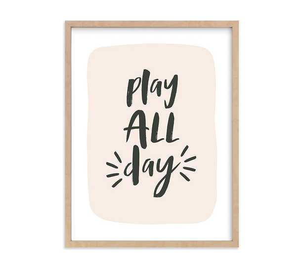 Minted(R) Night & Day Play Wall Art by Erica Krystek, 18x24, Natural - Pottery Barn Kids