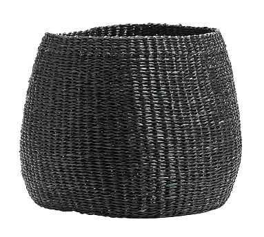 Lima Woven Basket, Black, Medium - Pottery Barn