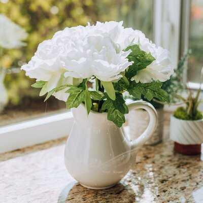 Peonies Centerpiece in Vase - Birch Lane