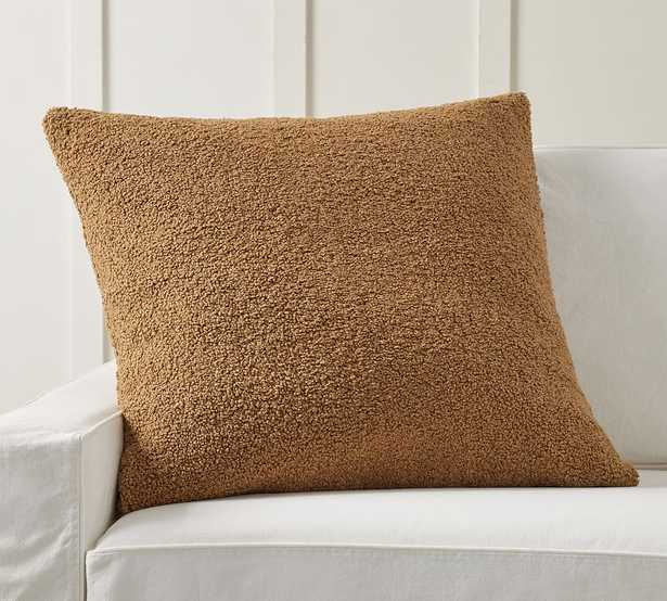 """Cozy Teddy Faux Fur Pillow Cover, 30 x 30"""", Tobacco - Pottery Barn"""