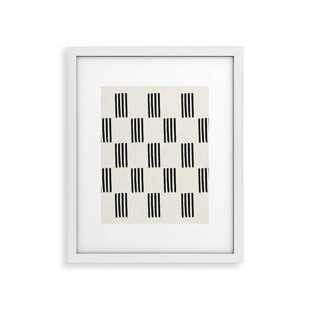 "Formation by Rose Beck - Modern Framed Art Print White 16"" x 20"" - Haldin"