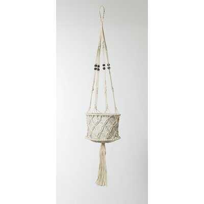 Hanging Macrame Basket - Wayfair