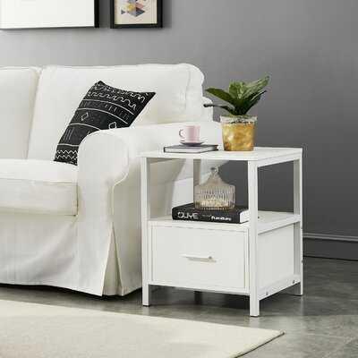 Ludie Block End Table with Storage - Wayfair