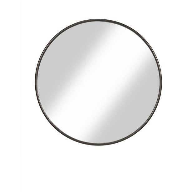 Oil Rubbed Bronze 36 in. Framed Round Wall Mirror - Home Depot