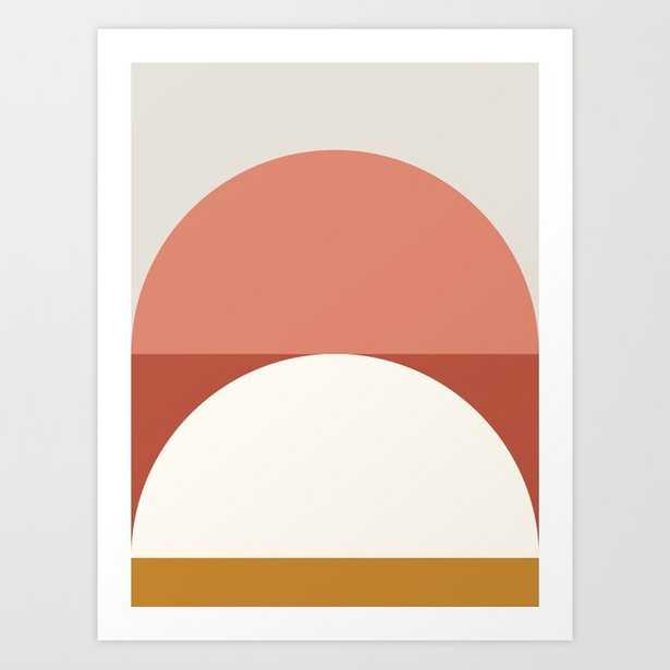 Abstract Geometric 01b Art Print by The Old Art Studio - MEDIUM - Society6