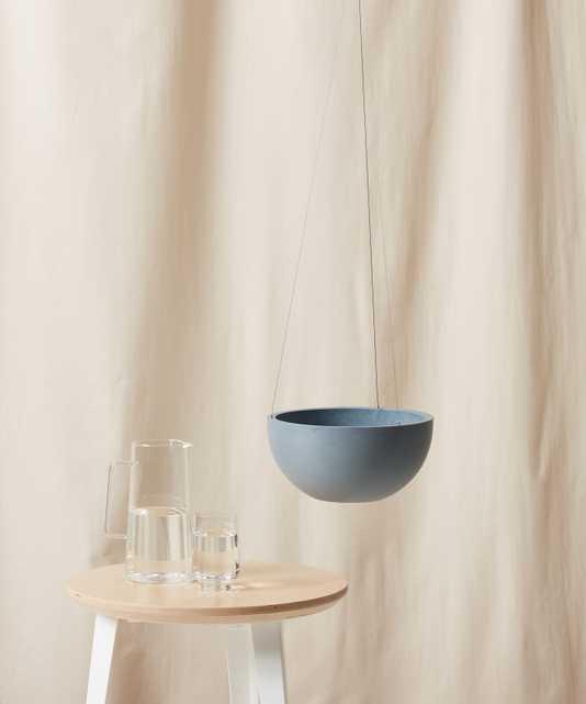 "Ecopots Hanging Pot - Medium (11"") -  Slate - Bloomscape"