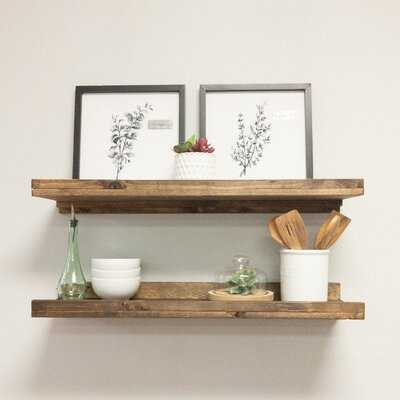 Tishie 2 Shelves 2 Piece Pine Solid Wood Floating Shelf - Wayfair