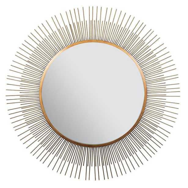 Pinnacle Sunburst Round Gold Decorative Mirror - Home Depot