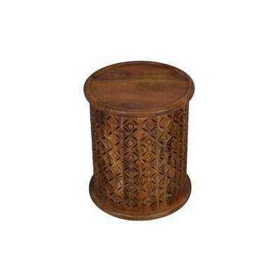 Opress Solid Wood Tray Top Drum End Table - Wayfair