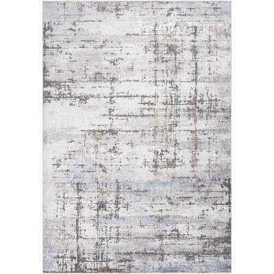 Barefield Abstract Gray/Blue Area Rug - Wayfair