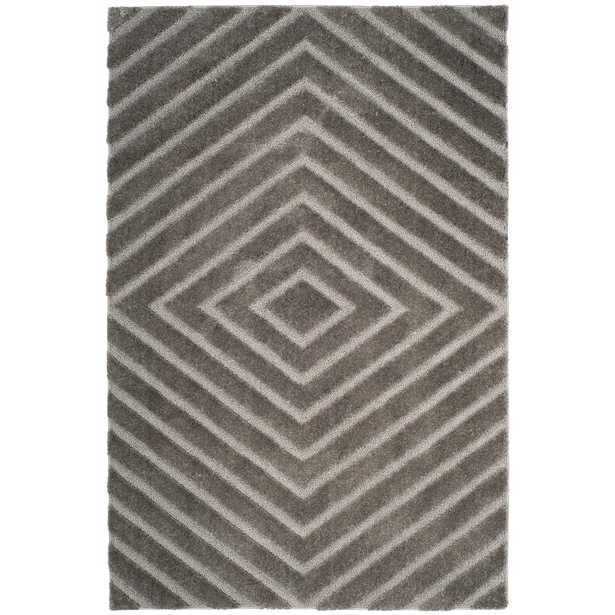 Safavieh Olympia Shag Silver 5 ft. x 8 ft. Area Rug - Home Depot