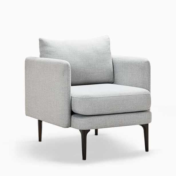 Auburn Chair, Twill, Platinum, Dark Mineral, Individual - West Elm